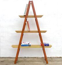 Nouveau moyen vintage en bois échelle étagère pour maison ou de vitrine Livre ou Plante