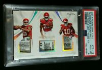 1/1 RC PATRICK MAHOMES II/TYREEK HILL ROOKIE LAUNDRY TAGS *PSA 8 2017 Immaculate