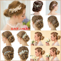 Bridal Flower Hair Comb Crystal Rhinestone Headpiece Wedding Hair Accessories