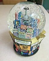 Large snow globe music of New York City broadway musicals 2001