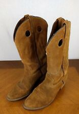 VTG Tan Goodyear Cowboy Boots Mens 9 1/2 D USA Brown Western Bull Riding Leather