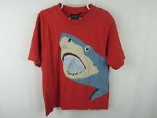 Mini Boden Boys Red Short Sleeve Shark PLAY Shirt Size 5-6 (C13)