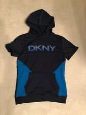 Pre-Owned Boys Dkny Short Sleeve Hoodie Size Large