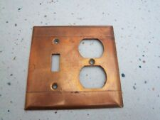 Vintage Copper Switch & Outlet plate Cover mid century modern arts and crafts
