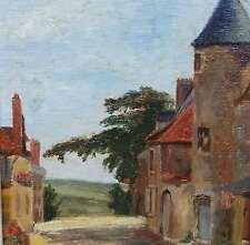 Monogrammist RH um 1930 FRANCE Impressionist WO ? Où? VILLE ? der Schuldenturm