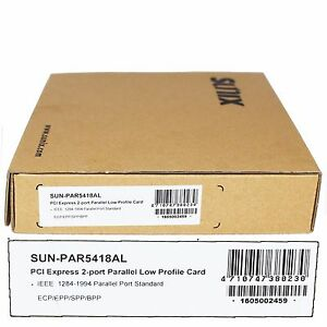 SUNIX PCI Express 2-Port Parallel Low Profile Card SUN-PAR5418AL 1284 - 1994