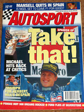 Autosport 18/5/95* SPANISH GP & F3000 - BTCC SILVERSTONE - INDY 500 QUALIFYING