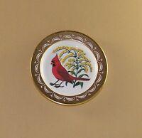 State Birds and Flowers Miniature Mini Plate ILLINOIS Cardinal Violet