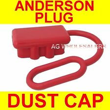 DUST CAP COVER RED SUIT ANDERSON PLUG 50 AMP DUAL BATTERY 50a