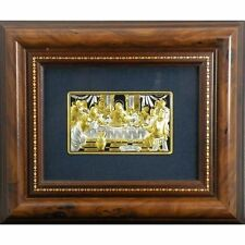 Damascene Silver/Gold Last Supper Framed Picture by Midas of Toledo Spain 94632