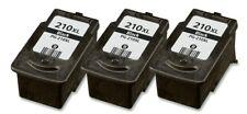 3 Pk PG-210XL Black Ink Cartridge for Canon PIXMA MP240 MP250 MP280 Printer PCS