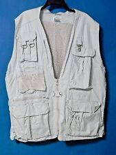 NATURE COMPANY FIELD VEST SAFARI, HIKING, PHOTO, FISHING BEIGE MEN Sz. L (EUC)