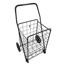 Folding Shopping Cart Utility Trolleysingle Basketportable For Grocerylaundry