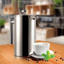 1L Kaffeebereiter Doppelwandig Edelstahl Frechpress Cafetiere Keffeekanne Filter