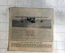 1914 Lt Porte Testing Flying Boat America Over Lake Keuka, Hopes Cross Atlantic