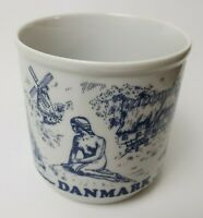 Danmark Denmark Coffee Mug Cup Blue White