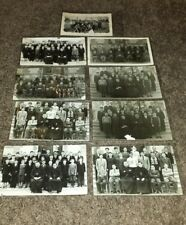 LOT OF 9 PHOTOS POST CARDS OF CATHOLIC BOYS STUDENTS & PRIESTS 5 YEAR OF CLASSES