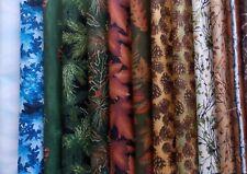 "Assorted Woodsy Fabric 30 Pc Layer Cake 10"" Fabric Squares Premium Cotton"