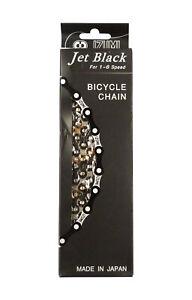 Izumi / Jet Black BMX Race Chain - 1/2 x 3/32 x 100L - Jet Black / Silver