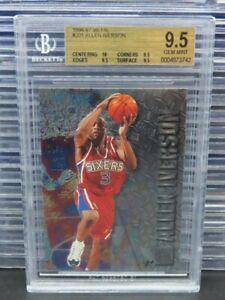 1996-97 Fleer Metal Allen Iverson Rookie Card RC #201 BGS 9.5 76ers T966