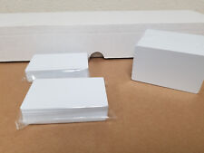 50 Blank White PVC Cards, CR80.30 Mil, High Quality for Color and UV Printing