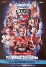 """TNA IMPACT WRESTLING - Collectible Flyer 4.1""""X5.13"""" Manchester 2015 For Framing"""