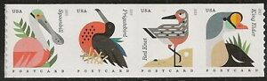 US 4995-4998 4998a Coastal Birds Postcard coil strip set (4 stamps) MNH 2015