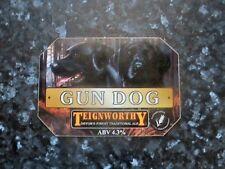 Teignworthy Gun Dog beer pump clip sign