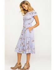 NWT $128 Free People Floral Midi Dress Lavender Size S