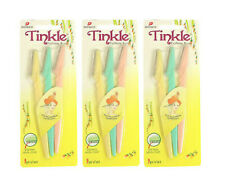 TINKLE EYEBROW,HAIR RAZOR TRIMMER SHAVER 9 PIECES AUTHENTIC BY DORCO