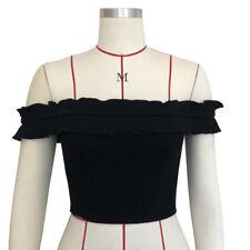 Summer Fashion Women Tank Tops Off Shoulder Sexy Blouse Skirt T-Shirt Top Shirt