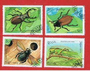 Laos #1243-1246 VF used  Insects  Free S/H