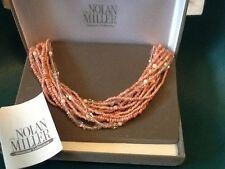 Nolan Miller's multi strand Bermuda beach necklace PINK