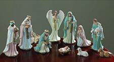 "Burton Victorian Christmas Nativity Set, 10 Pieces, Pastel Colors, 2""-8.75"" Tall"
