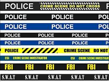 POLICE, CRIME SCENE, FBI, CSI QUALITY UNIQUE LANYARD NECK STRAP - SATIN
