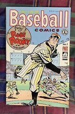BASEBALL COMICS #1 WILL EISNER FULL COLOR 4 CARDS RUBE ROOKY ASHBURN WOODLING...