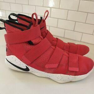 Nike Lebron James Soldier 11 XI University Red Black 897644-601 Mens Size 10