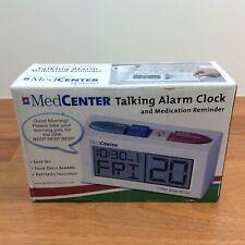MedCenter Talking Alarm Clock / Medication Reminder, White, Sealed
