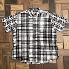Woolrich Outdoor Wear Button Down Shirt / Cream White Navy Yellow / Men's XXL