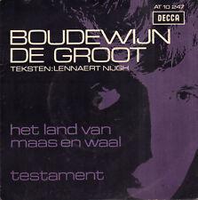 """BOUDEWIJN DE GROOT – Het Land van Maas en Waal / Testament (1967 SINGLE 7"""")"""