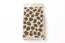 Elegant Ladies Plastic iPhone 4/4S Cover w Leopard Pattern Diamonds (S583)
