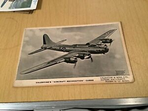 Valentine's Aircraft Recognition Cards - Boeing Fortress II