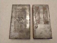 Art Deco 2 Metal Printing Plates 6 34 X 3 14 On Wood Blocks