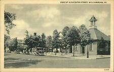 Williamsburg VA Duke of Gloucester St. Postcard