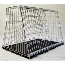 """PET WORLD 32"""" CAR BOOT DOG CAGE PUPPY TRAVEL SLOPING CRATE PET SAFETY CAGES"""