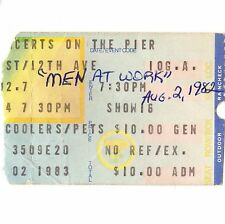 Men At Work & Red Rockers Concert Ticket Stub New York Ny 8/2/83 Pier 84 Cargo