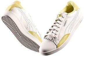 Puma Match Lo basic Sport Damen Sneaker Gelb Schuhe Größe 37 Neu H509