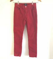 Gap Kids Girls Size 12 yrs Red Velvet Stretch Pants Jeans Skinny Fit
