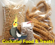 Cockatiel or Love Bird Food & Treats 5Lbs Feed 6oz Millet, Calcium & Mineral Bar