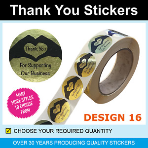 35mm Gold Foil Love Heart Thank You Stickers / Labels - Only for 120